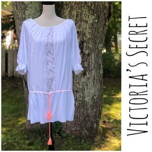 Victoria's Secret White cotton & lace cover up